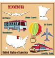 Flat map of Minnesota vector image