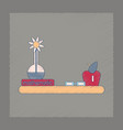 flat shading style icon math book table vector image vector image
