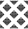 Foliate arabesque motifs in a diamond pattern vector image vector image