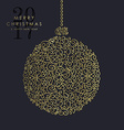 Gold Christmas and new year ornamental bauble vector image vector image