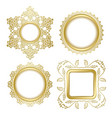 golden decorative frames with transparent shadow vector image vector image