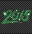 green particles wave in form of 2018 digits vector image