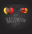 happy halloween greeting card with logo vector image vector image