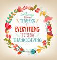 happy Thanksgiving florals wreath Colors vector image vector image