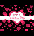 happy valentines day 14 february greeting card vector image vector image