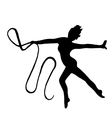 High quality original girl gymnastic doing vector image vector image
