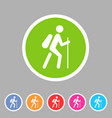 hiking treking icon icon flat web sign symbol logo vector image vector image