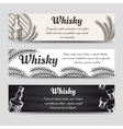 Horizontal whisky banners set vector image