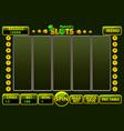 interface slot machine style stpatricks vector image vector image
