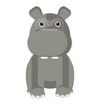 isolated cute hippo vector image vector image