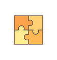 jigsaw puzzle concept colored icon vector image