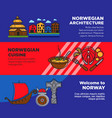 journey to norway promotional posters with vector image vector image