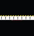 keep safe distance 6 feet 2 meters floor sticker vector image vector image