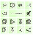 loudspeaker icons vector image vector image