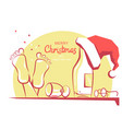 merry christmas greeting card with text color vector image