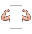 muscle male arms mobile app banner template vector image vector image