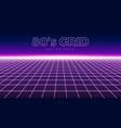 perspective grid retro 80s design element neon vector image vector image