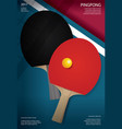 pingpong poster template vector image