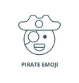 pirate emoji line icon linear concept vector image vector image