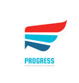 progress - business logo template concept vector image vector image
