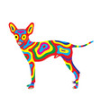 rainbow dog 7 vector image vector image
