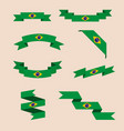 ribbons or banners in colors of brazilian flag vector image vector image