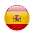 Round icon with flag of Spain vector image vector image