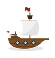 sail boat toy isolated icon vector image