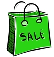 Sale bag icon vector image