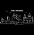 santorini silhouette skyline greece - santorini vector image vector image