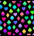 seamless bright multicolored icons vector image