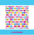set of six bright seamless patterns abstract vector image