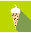 Soft ice cream icon flat style vector image vector image