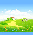 spring country scenery vector image