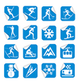 Stickers with winter sport icons