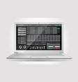 trading platform interface with infographic vector image vector image