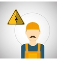 Under construction design supplies icon worker vector image vector image