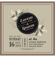 Vintage Floral Wedding invitation border and frame vector image vector image