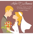 Wedding couple for invitation card image vector image vector image