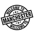 welcome to manchester black stamp vector image vector image