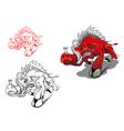 wild running boar vector image vector image