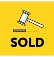 Auction hammer icon Thin line Flat vector image