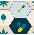seamless background with symbols of drug addiction vector image