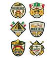 cinco de mayo mexican fiesta holiday sketch icons