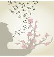 Singing woman vector image