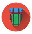 Icon of camping backpack vector image