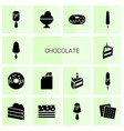 14 chocolate icons vector image vector image