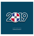 2019 dominican republic typography happy new year vector image vector image