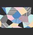abstract patchwork pattern background vector image vector image