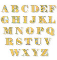 alphabet with floral pattern vector image